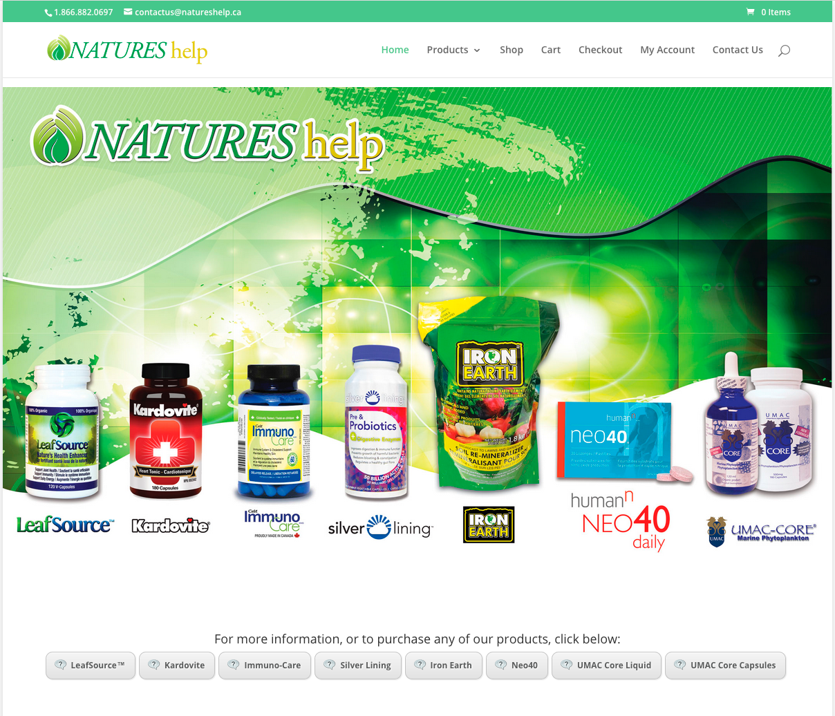 NATUREShelp nutritionals and health supplements.