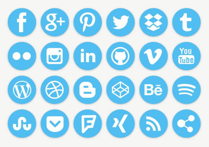 Some of the many Social Media Brands